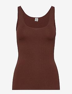 URDA - Ærmeløse toppe - dark brown 899