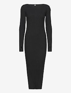 ORVILLE DRESS - strikkjoler - black 200