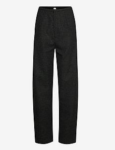 EVORA - bukser med lige ben - dark grey melange 397