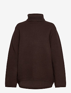 CAMBRIDGE - jumpers - dark brown 899