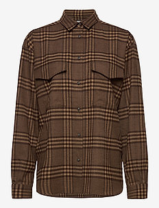 NOVELLA - overshirts - brown check 888