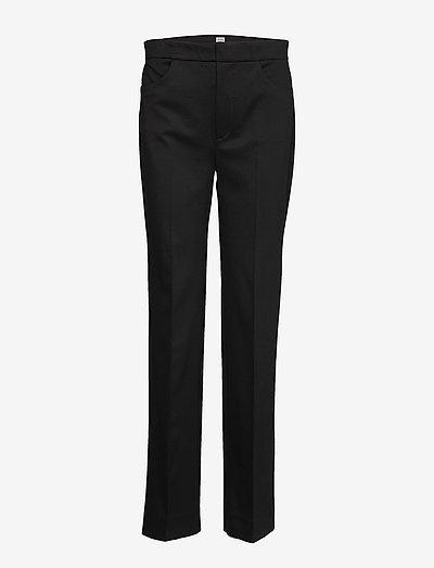 TROIA SLACKS - bukser med lige ben - black 200