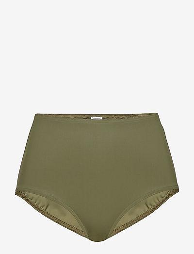 PETRONA - højtaljede bikiniunderdele - green 490