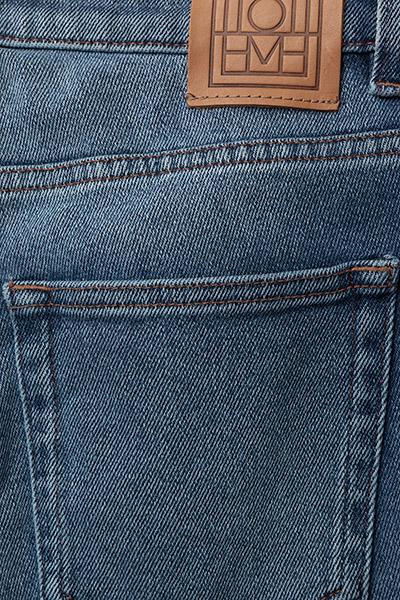 010da3b37aa2a Straight Denim (Mid Blue Wash) (£164) - Totême -