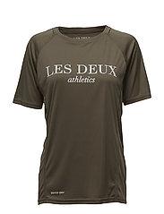 Les Deux Logo T-shirt - MOSS GREEN