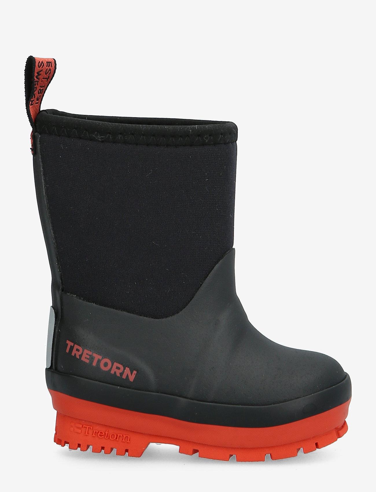 Tretorn - KULING NEOPRENE - vuorittomat kumisaappaat - 017/black/burnt - 1