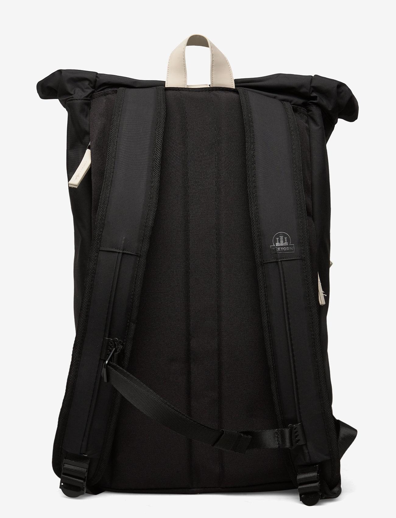 Tretorn - OCEAN NET ROLLTOP - väskor - 015/black/sand - 1