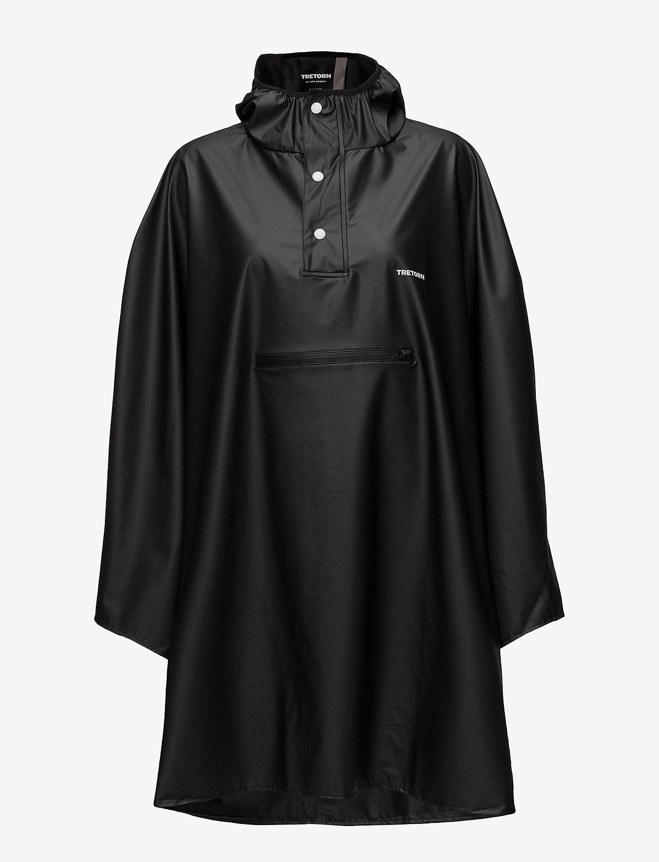 Tretorn - PU LIGHT RAINPONCHO - manteaux de pluie - jet black - 0