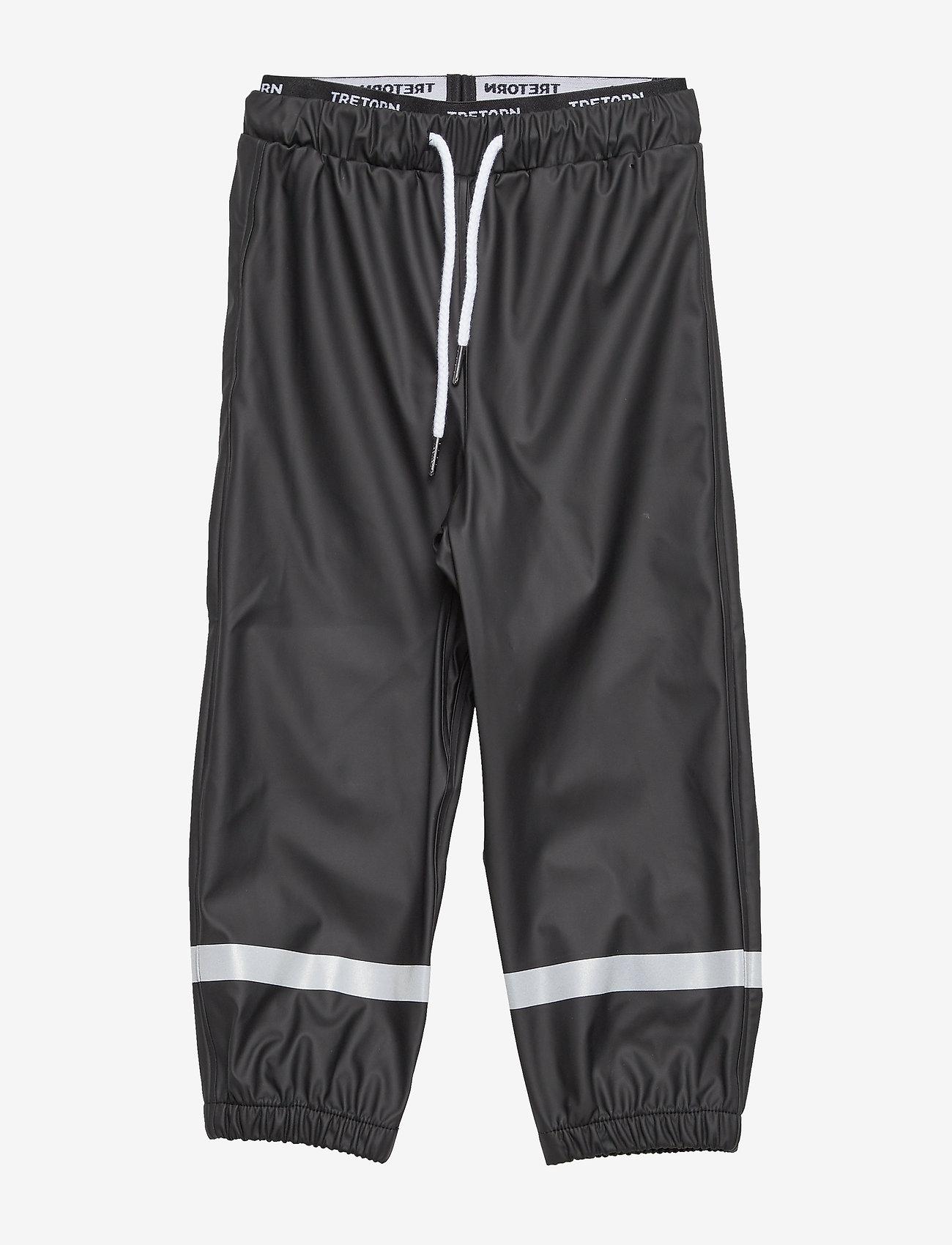 Tretorn - KIDS EXPLORER RAINPANTS - pantalons - 011/jet black - 0