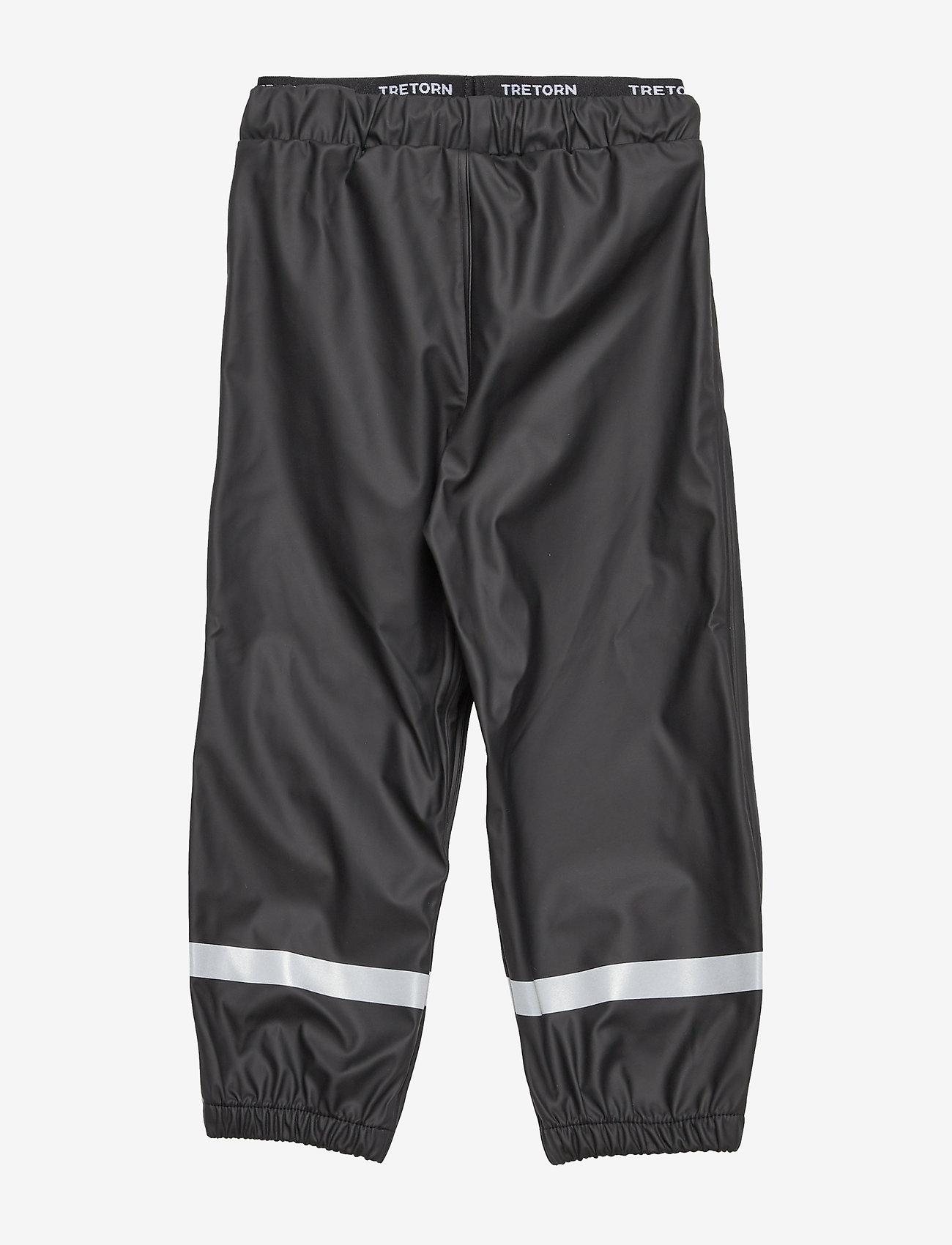 Tretorn - KIDS EXPLORER RAINPANTS - trousers - 011/jet black - 1