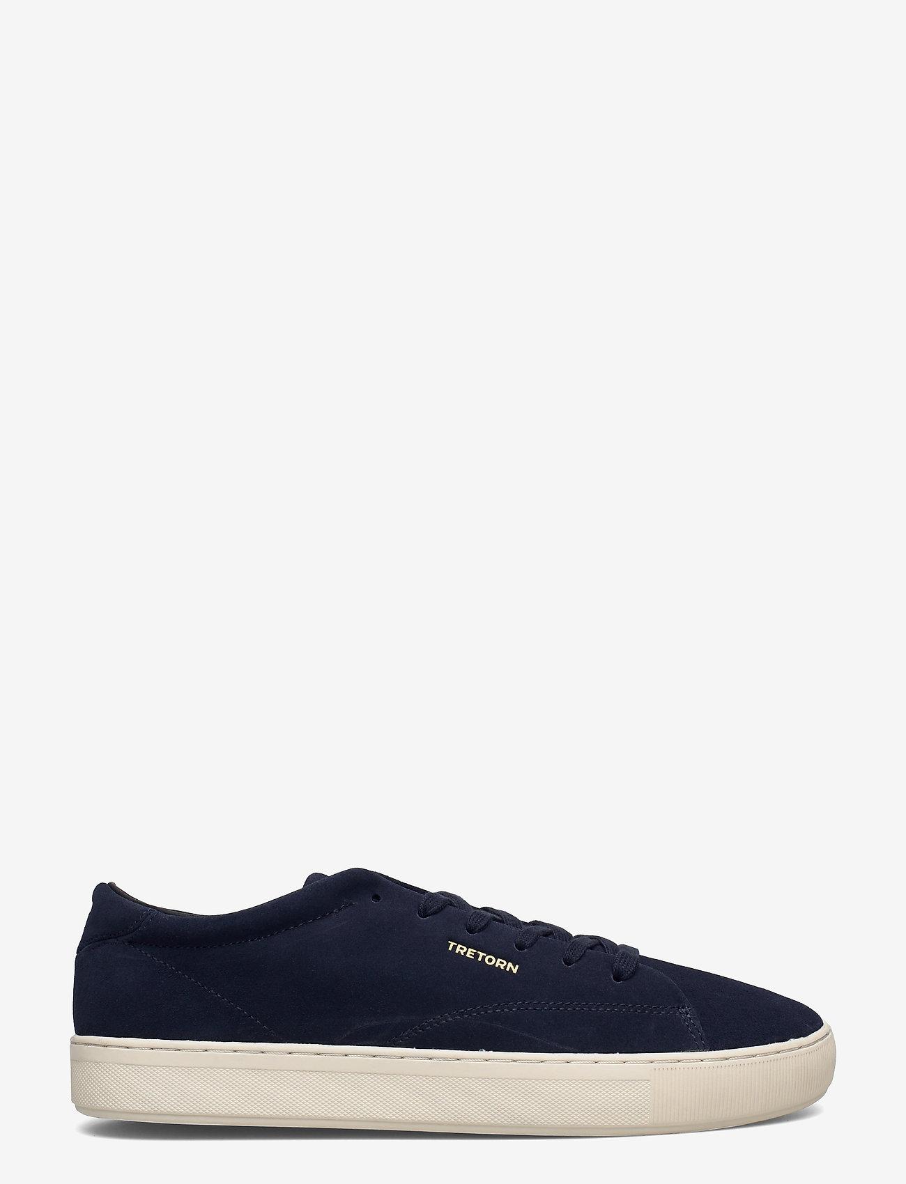 Tretorn - TOURNAMENT SUEDE - låga sneakers - 080/navy - 1