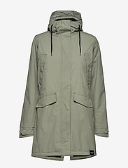 Tretorn - RAIN JKT FROM THE SEA PADDED W - parki - 061/seagrass - 1