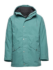 WINGS WOVEN PADDED JACKET - 062/ARTIC GREEN