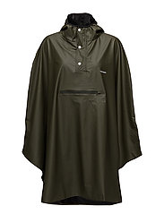 PU LIGHT RAINPONCHO - FOREST GREEN