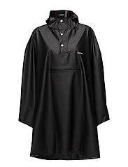PU LIGHT RAINPONCHO - JET BLACK