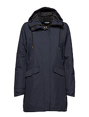 RAIN JKT FROM THE SEA PADDED W - 017/HULL BLUE