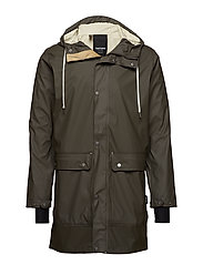 EVALD 2.0 RAINCOAT - 066/BLACK OLIVE