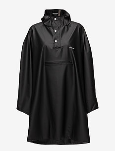 PU LIGHT RAINPONCHO - jackor & rockar - jet black