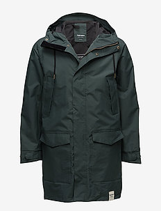 MENS RAIN JACKET FROM THE SEA - parkas - 024/kelp green