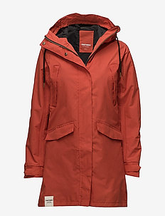 WOMENS RAIN JACKET FROM THE SE - 052/GUNWALE RED