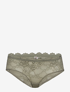 Tempting Lace Hipster - culotte taille basse - moss green old