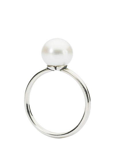 White Pearl Ring - WHITE