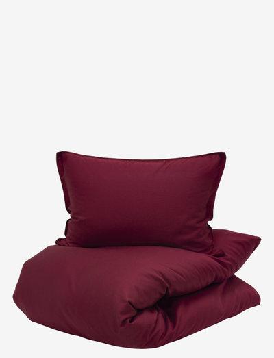 Uno - parures de lit - burgundy