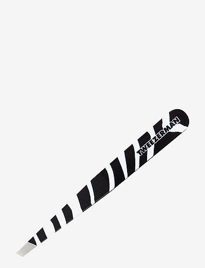 Slant Tweezer Zebra Print - makeupværktøj - no color