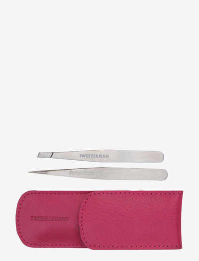Petite Tweeze Set With Pink Case - Øjenbryn - no color