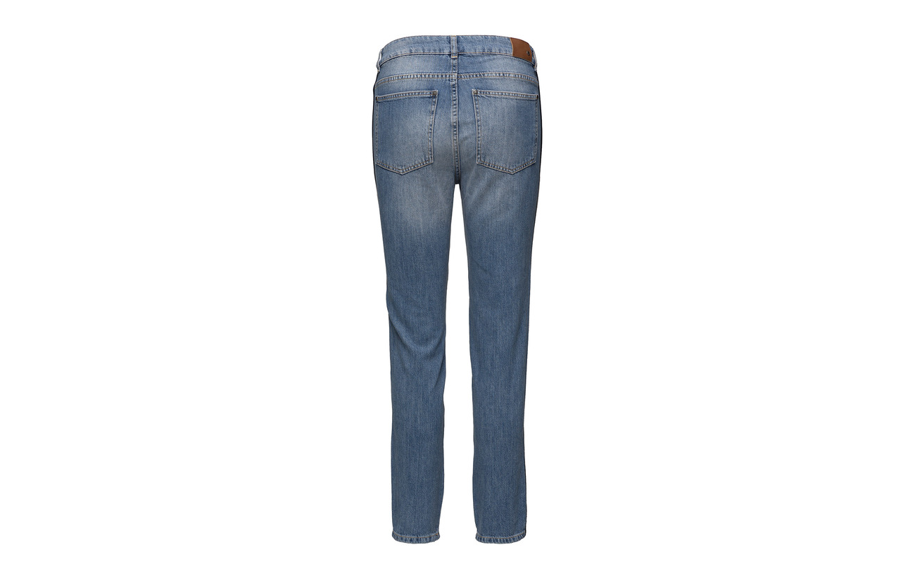 Sarah Mid amp; Twist Stripe Jeans 100 Tango Organiccotton Blue qcUcHEr