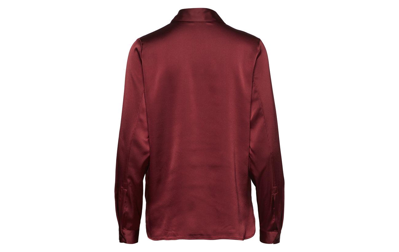 Twist Dark 100 amp; Polyester Shirt Penelope Tango Recyclé Wine rIrYxRq