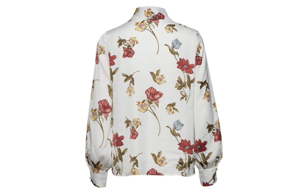Shirt Botanical Polyester amp; 100 White Isolde Tango Recyclé Twist Op64x