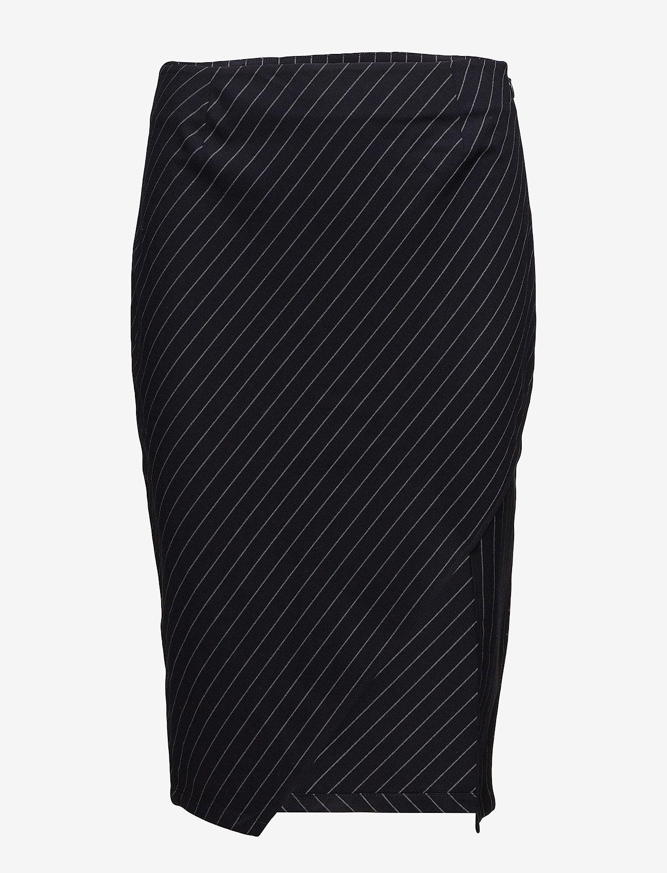 Twist & Tango - Whitney Skirt - midi - navy pin stripe