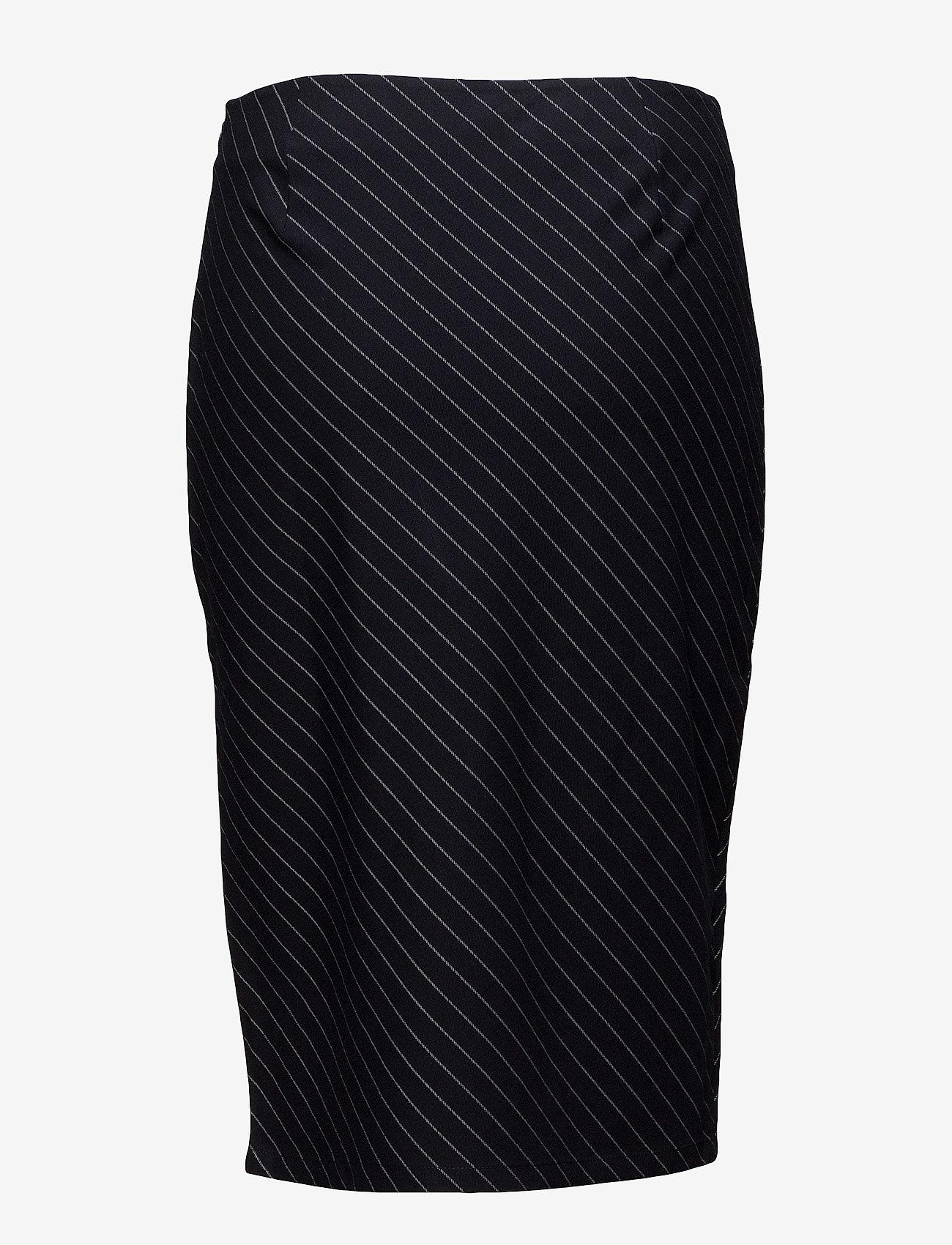 Twist & Tango Whitney Skirt - Skirts NAVY PIN STRIPE