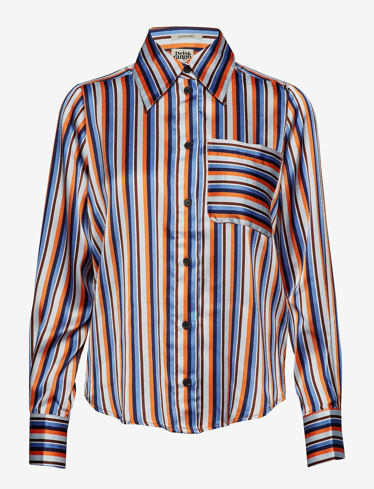 Nathalie Shirt Orange Stripe (Orange Stripe) - Twist & Tango dNGiRT