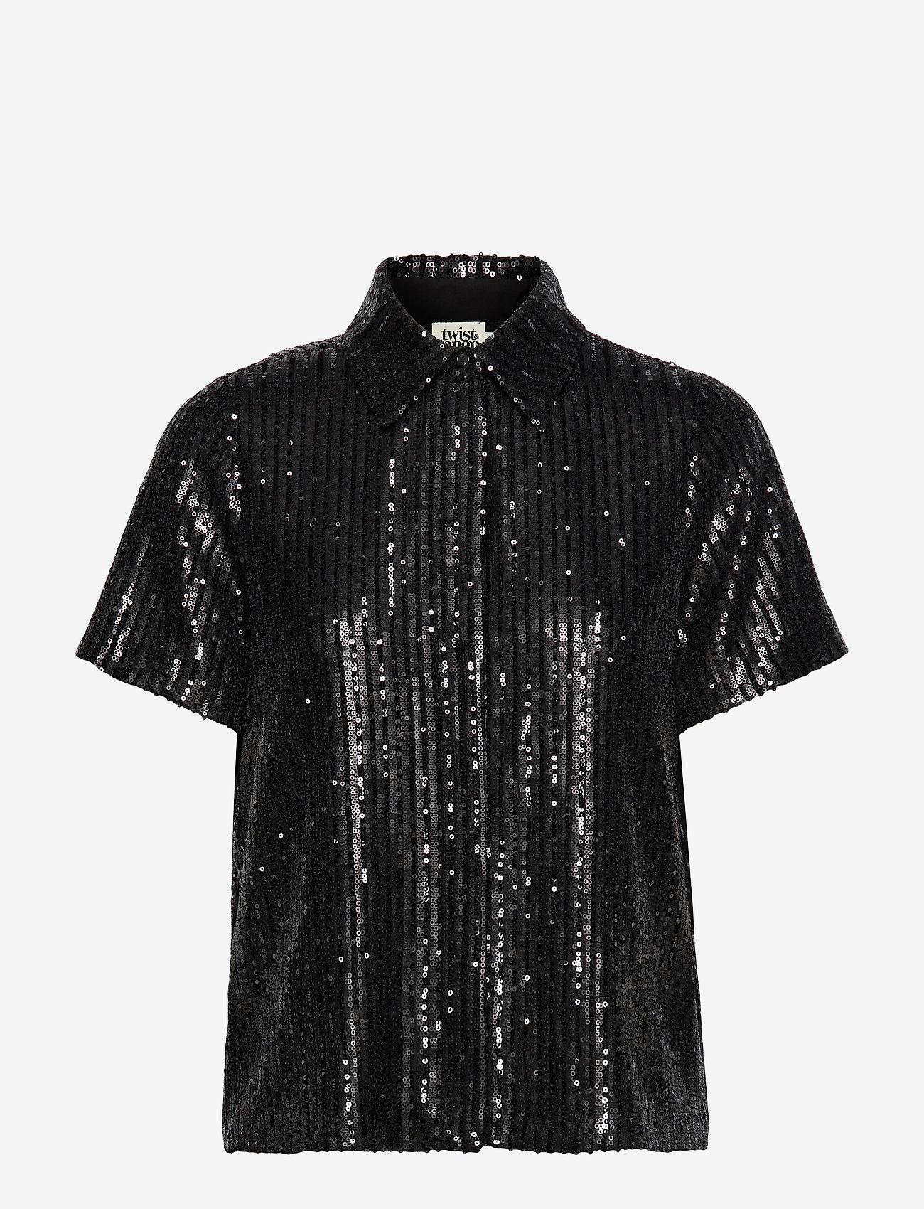 Twist & Tango - Britta Sequin Dress - blouses à manches courtes - black - 0