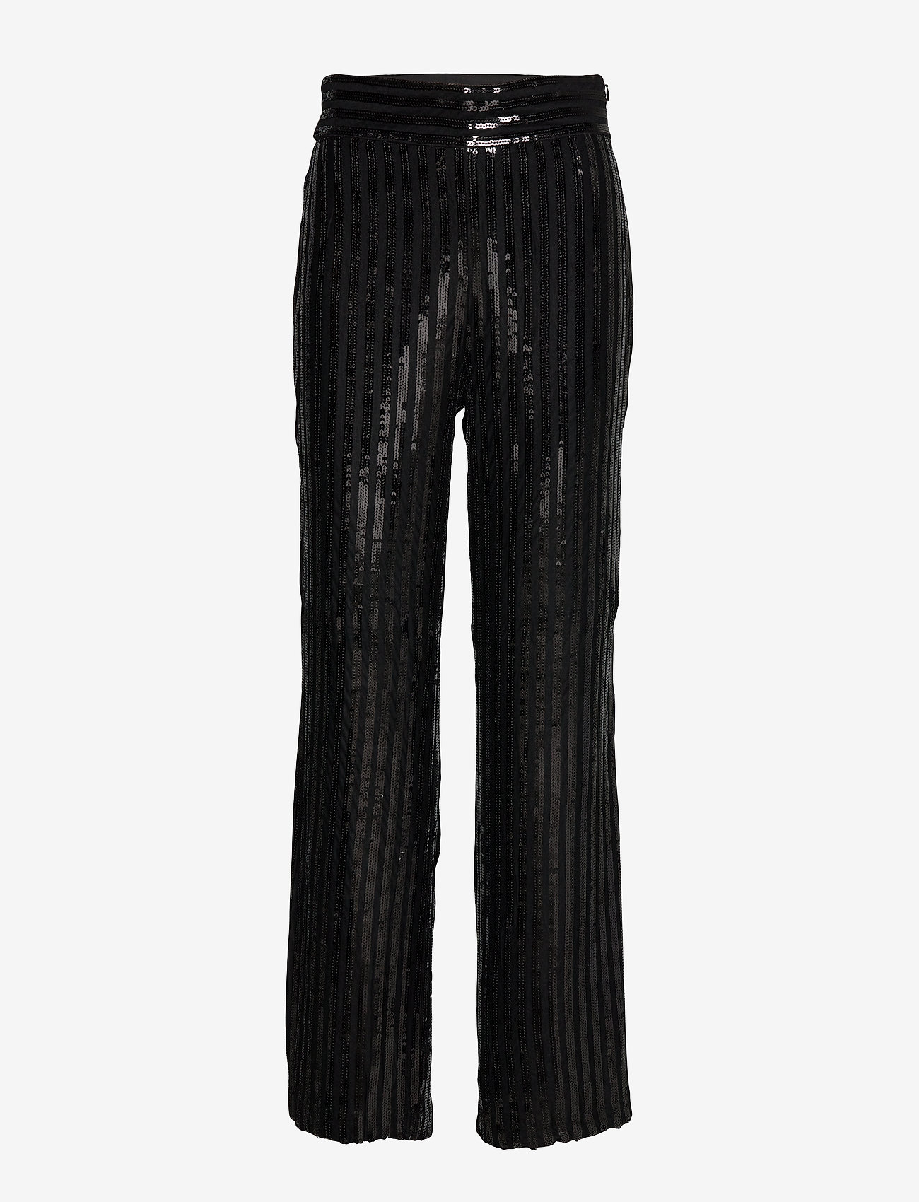 Twist & Tango - Judi Sequin Trousers - uitlopende broeken - black - 0