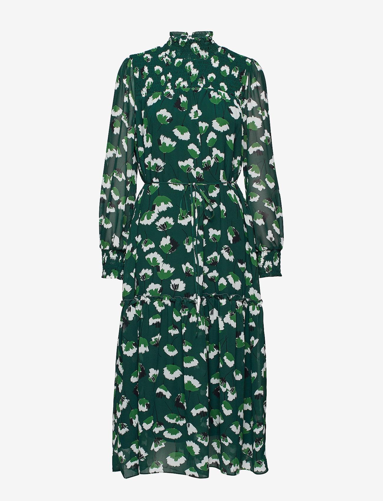 Twist & Tango - Aline Long Dress - midiklänningar - green flower - 0