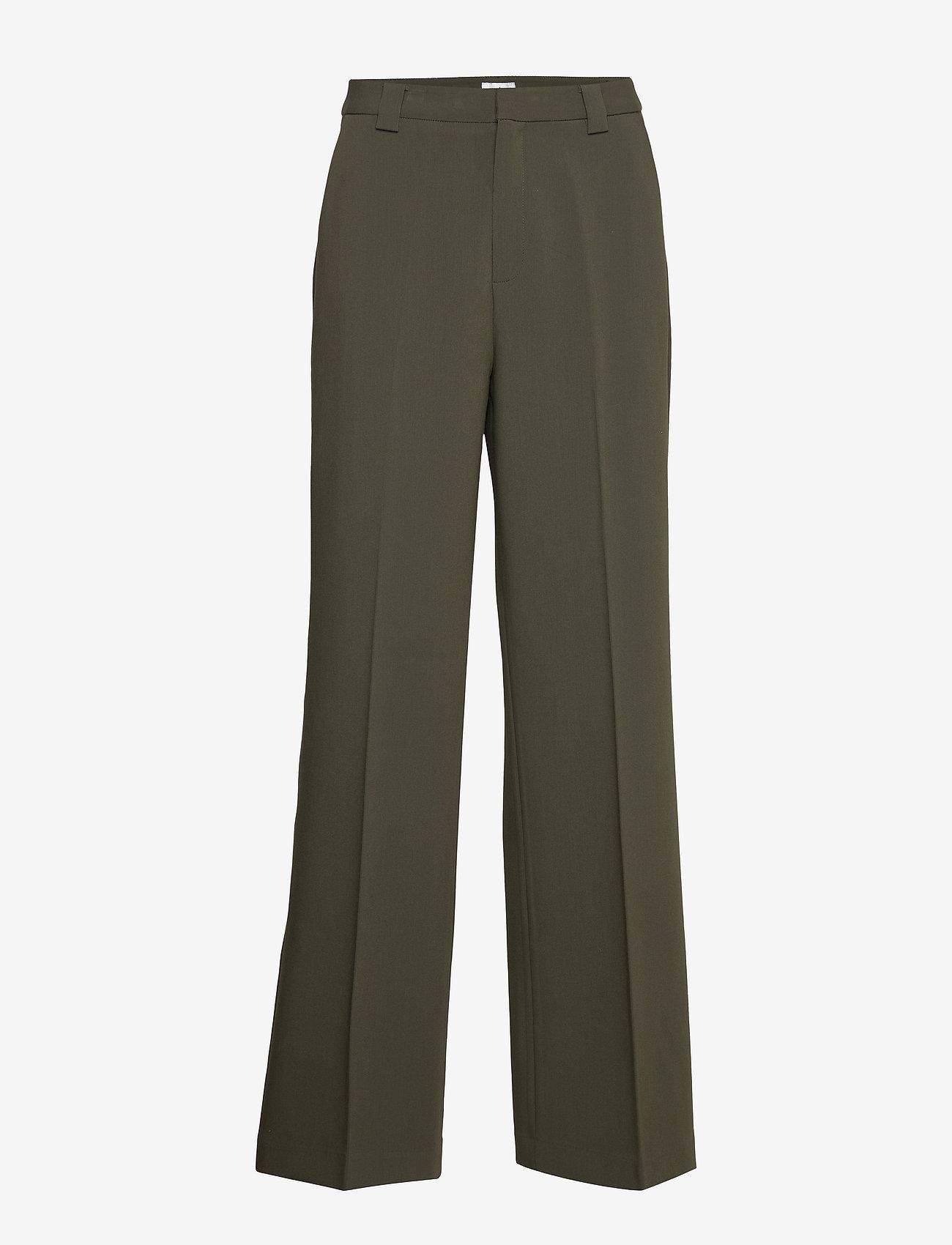 Twist & Tango - Victoria Trousers - bukser med brede ben - dark khaki - 1