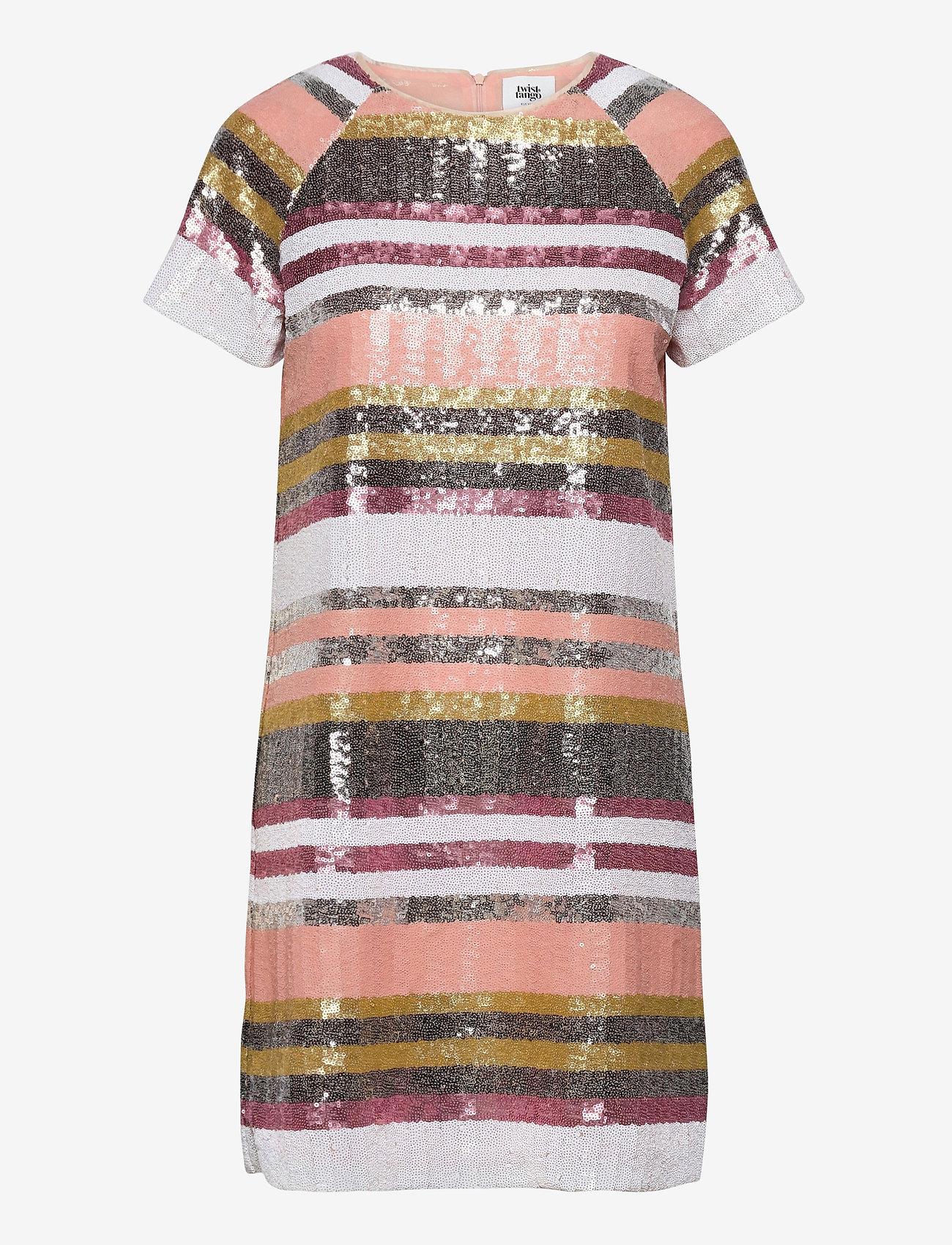 Twist & Tango - Pernilla Sequin Dress - paljettkjoler - sequin stripe - 0