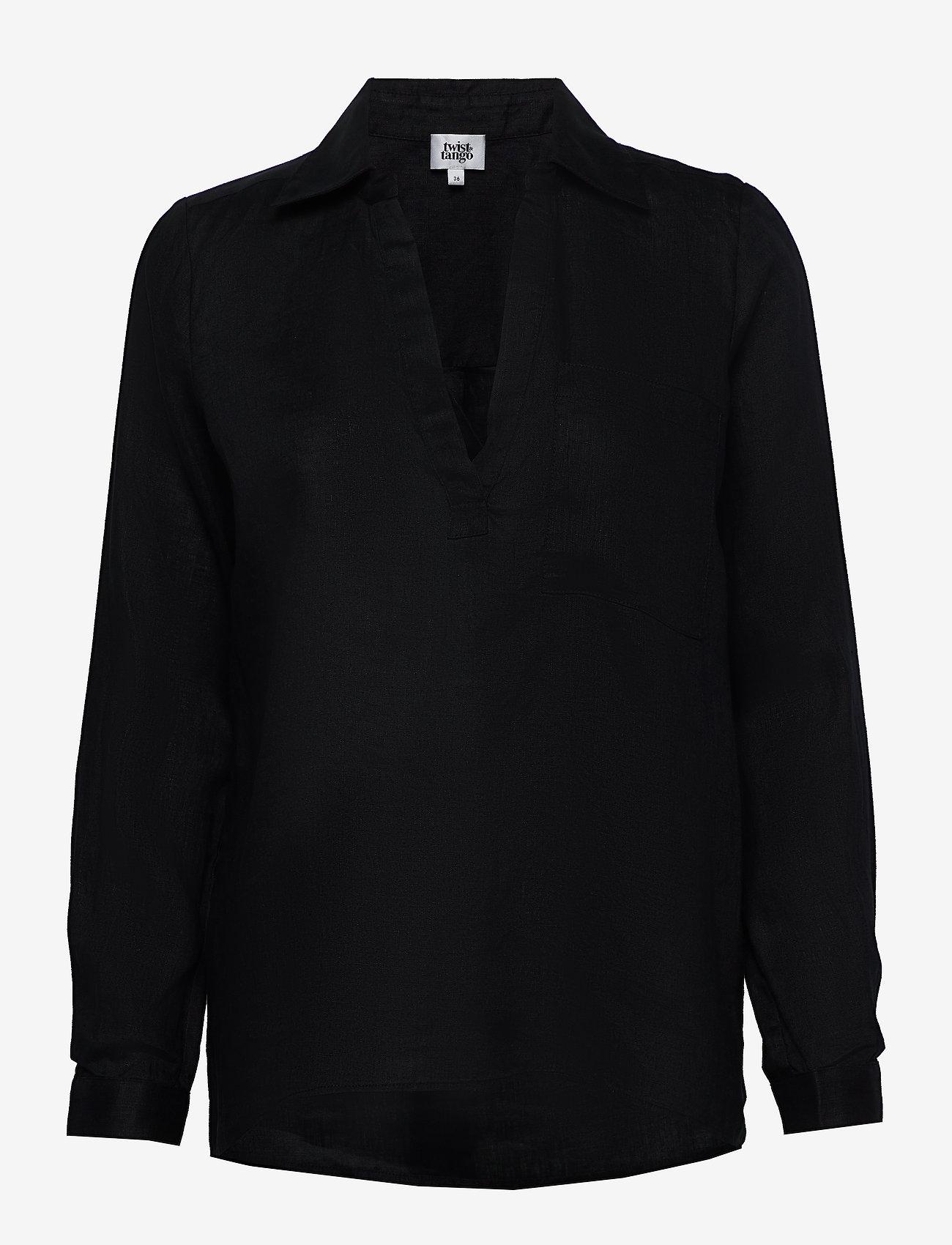 Twist & Tango - Jaden Shirt - långärmade skjortor - black - 0