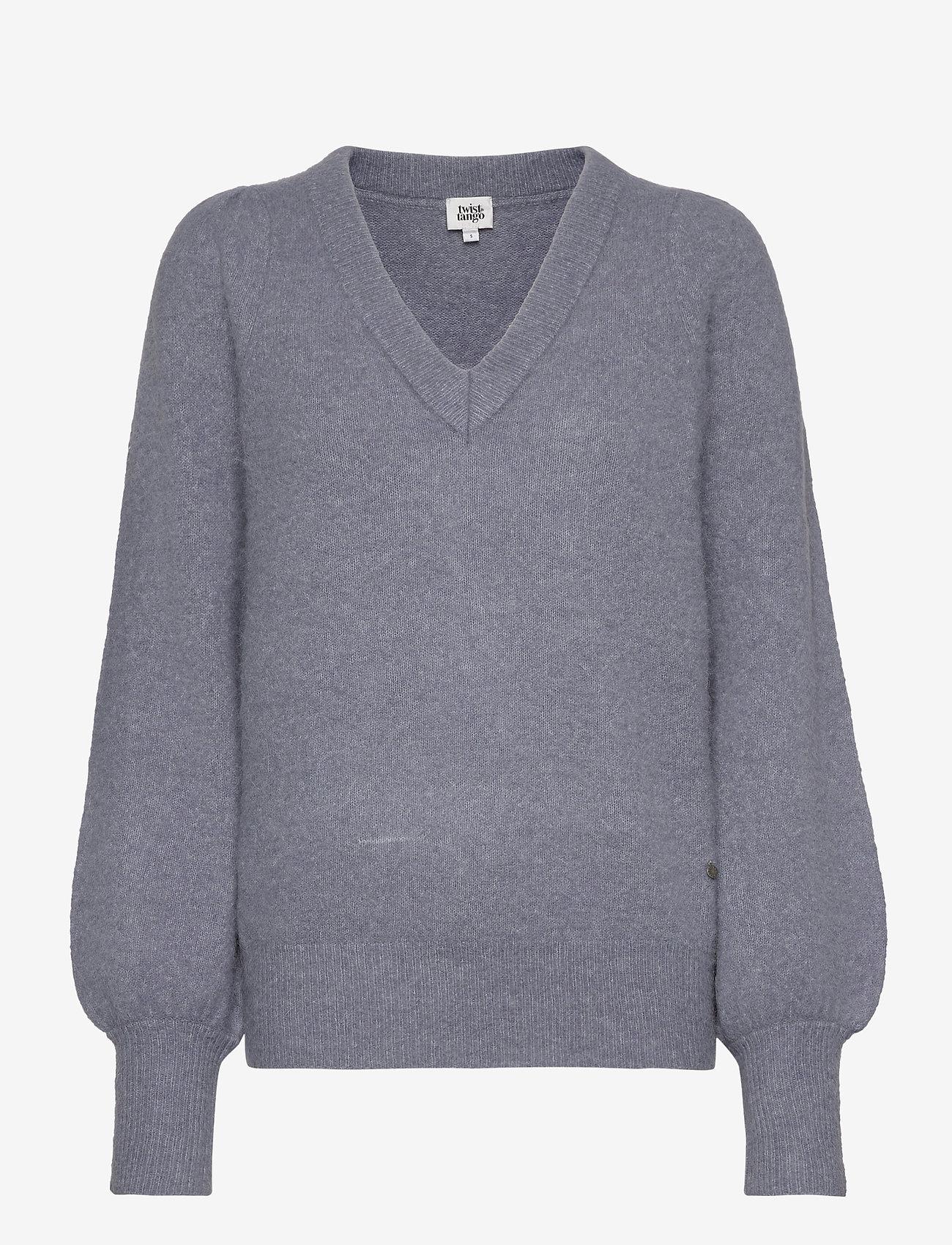 Twist & Tango - Valeria Sweater - tröjor - slate blue - 0