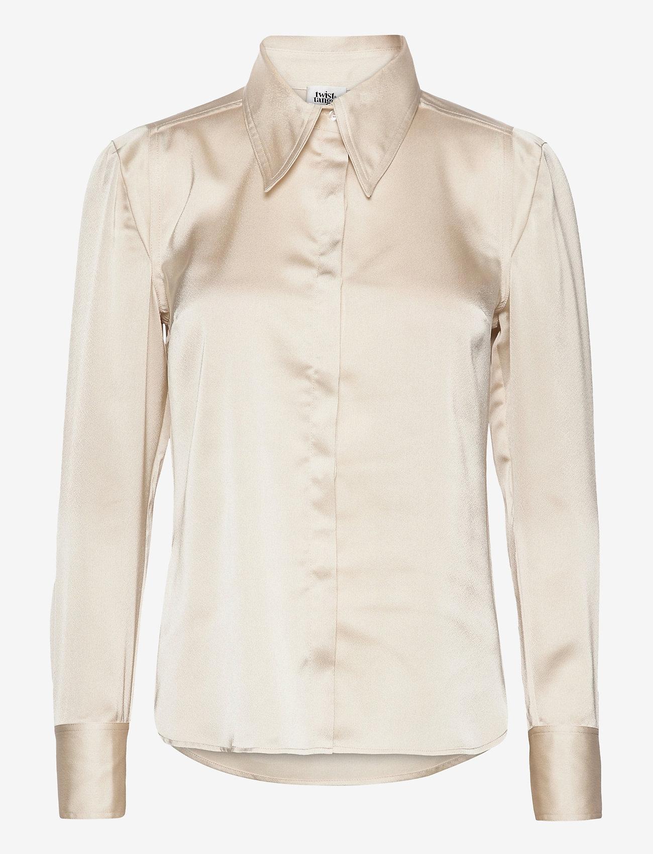 Twist & Tango - Peggy Shirt - långärmade skjortor - pearl - 0