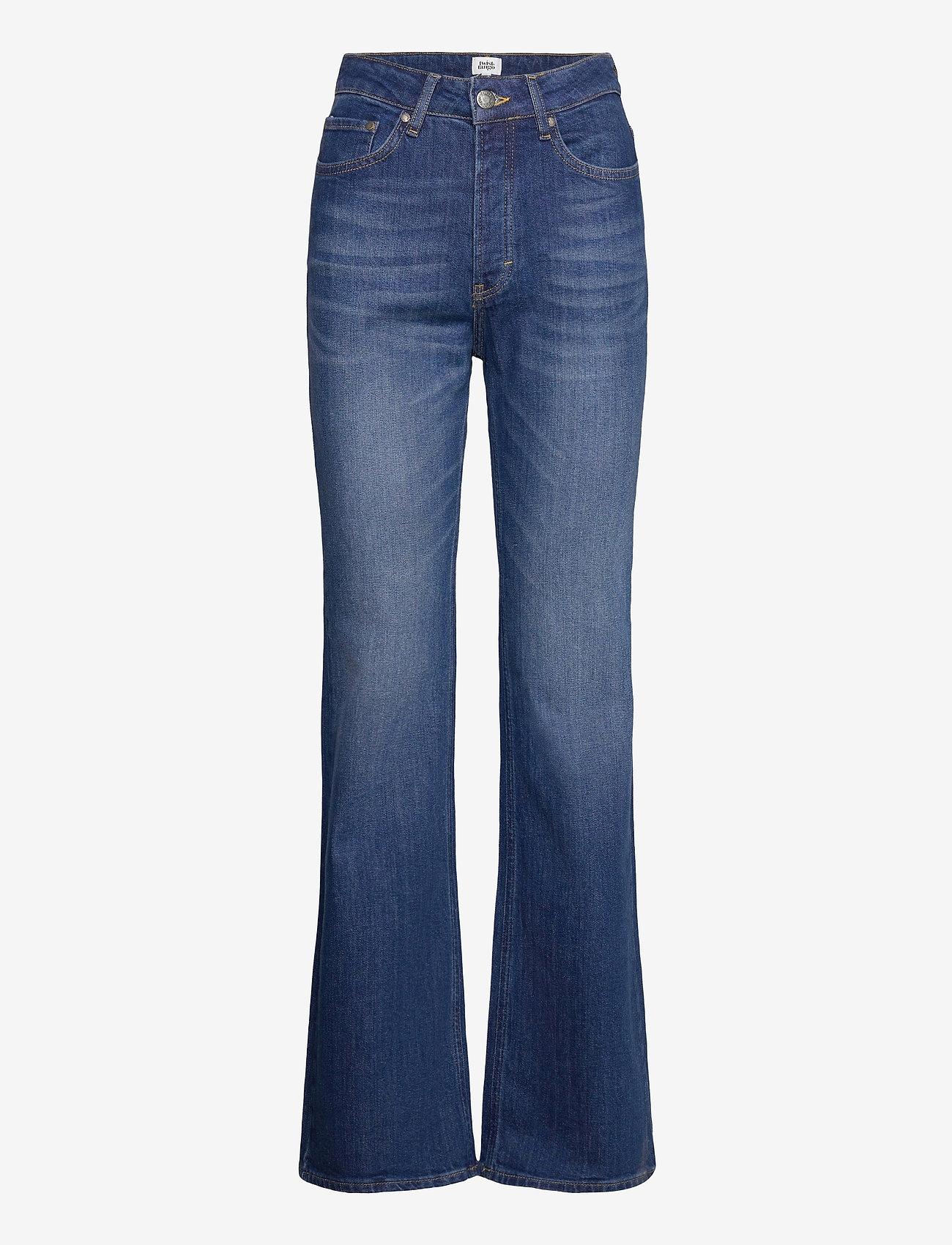Twist & Tango - Lo Flare Jeans - utsvängda jeans - dk blue wash - 0