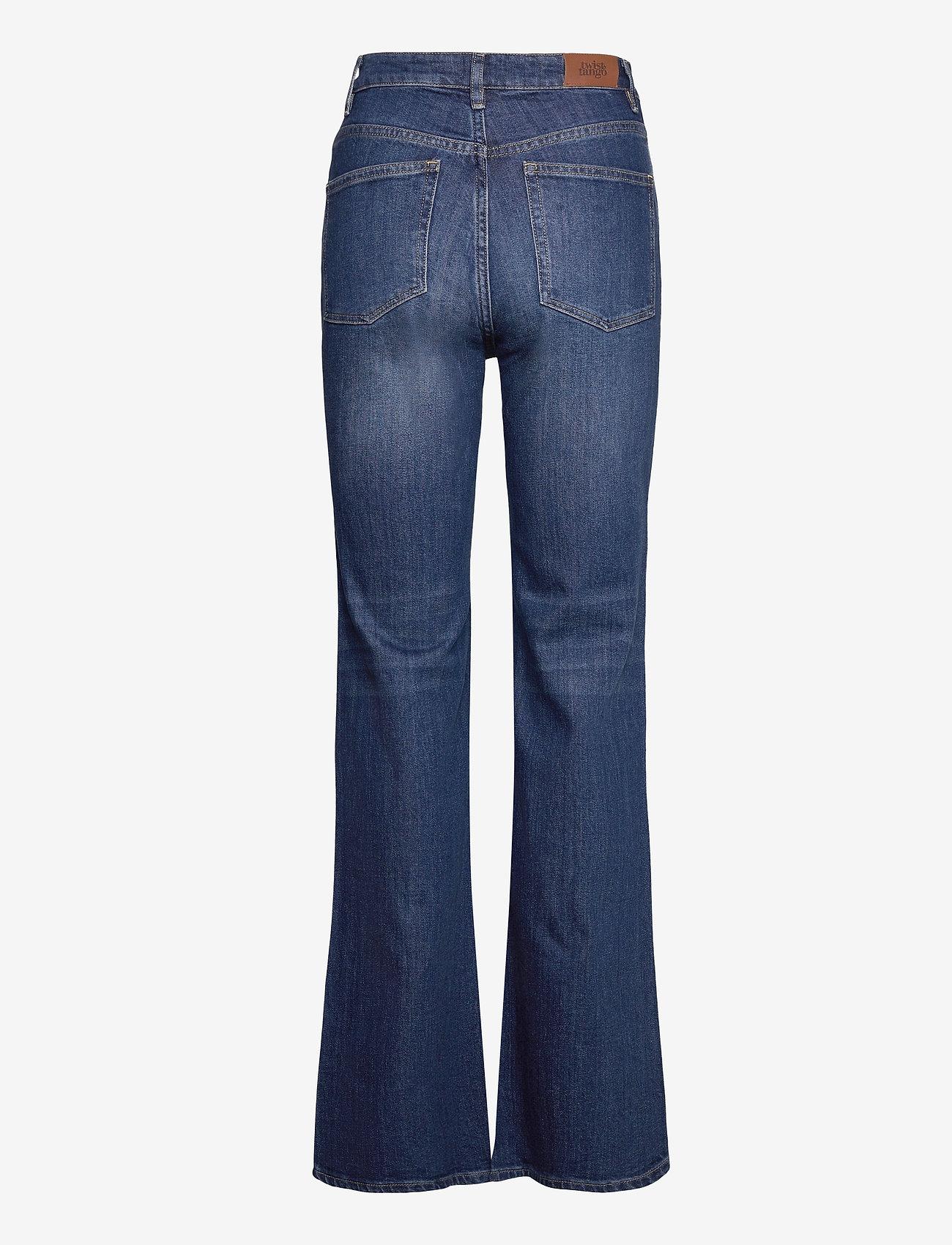 Twist & Tango - Lo Flare Jeans - utsvängda jeans - dk blue wash - 1