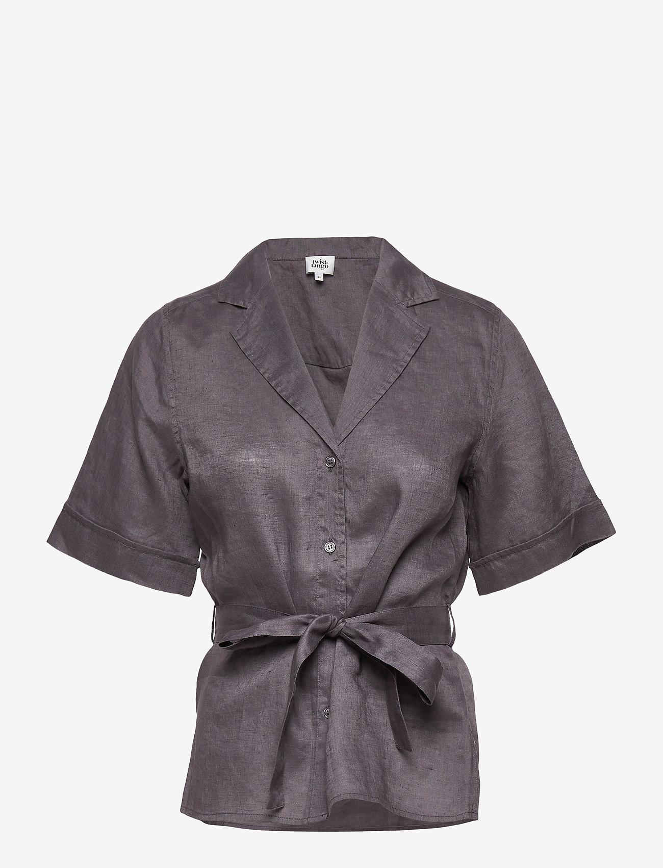 Twist & Tango - Ashley Shirt - kortärmade skjortor - dk asphalt - 0