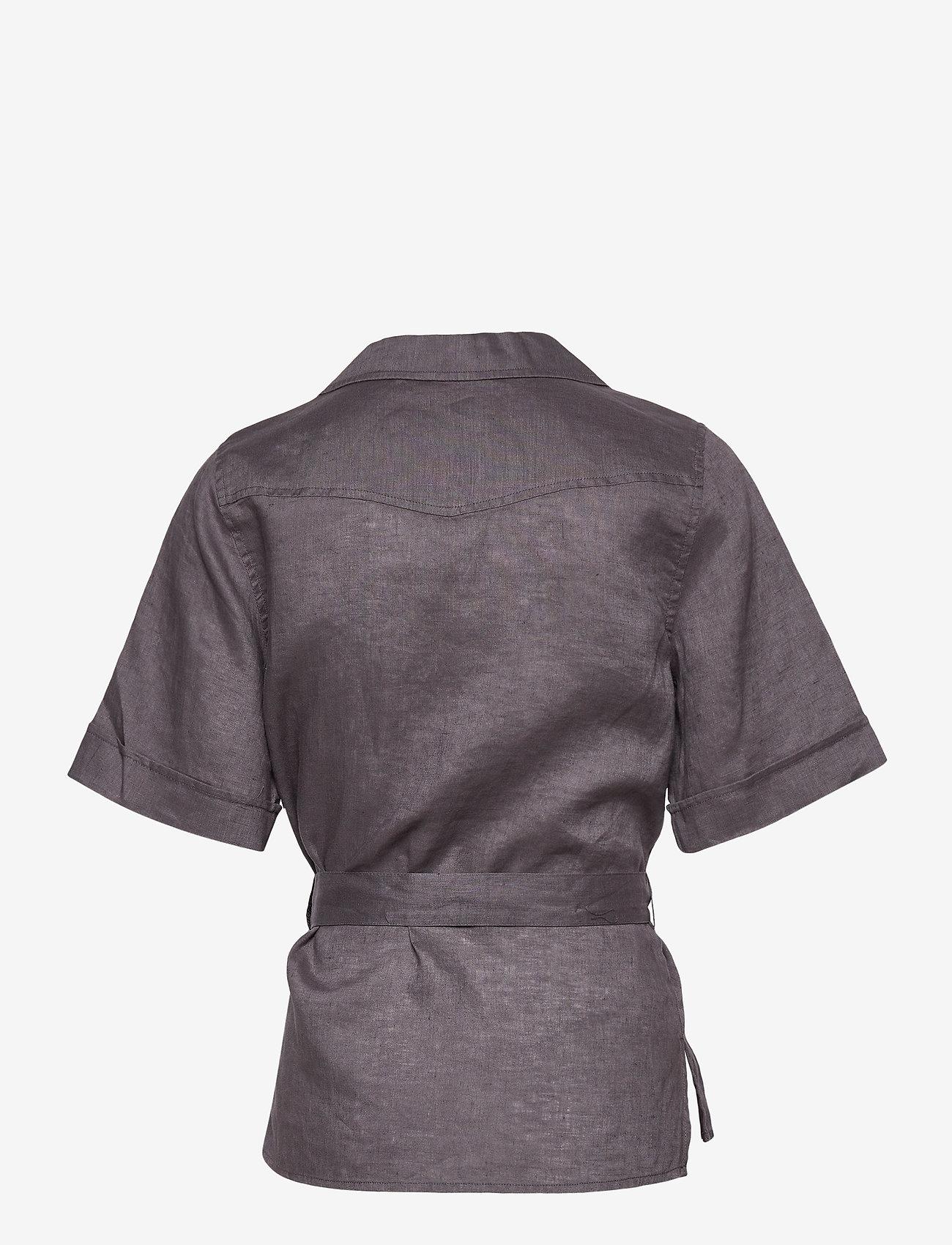 Twist & Tango - Ashley Shirt - kortärmade skjortor - dk asphalt - 1