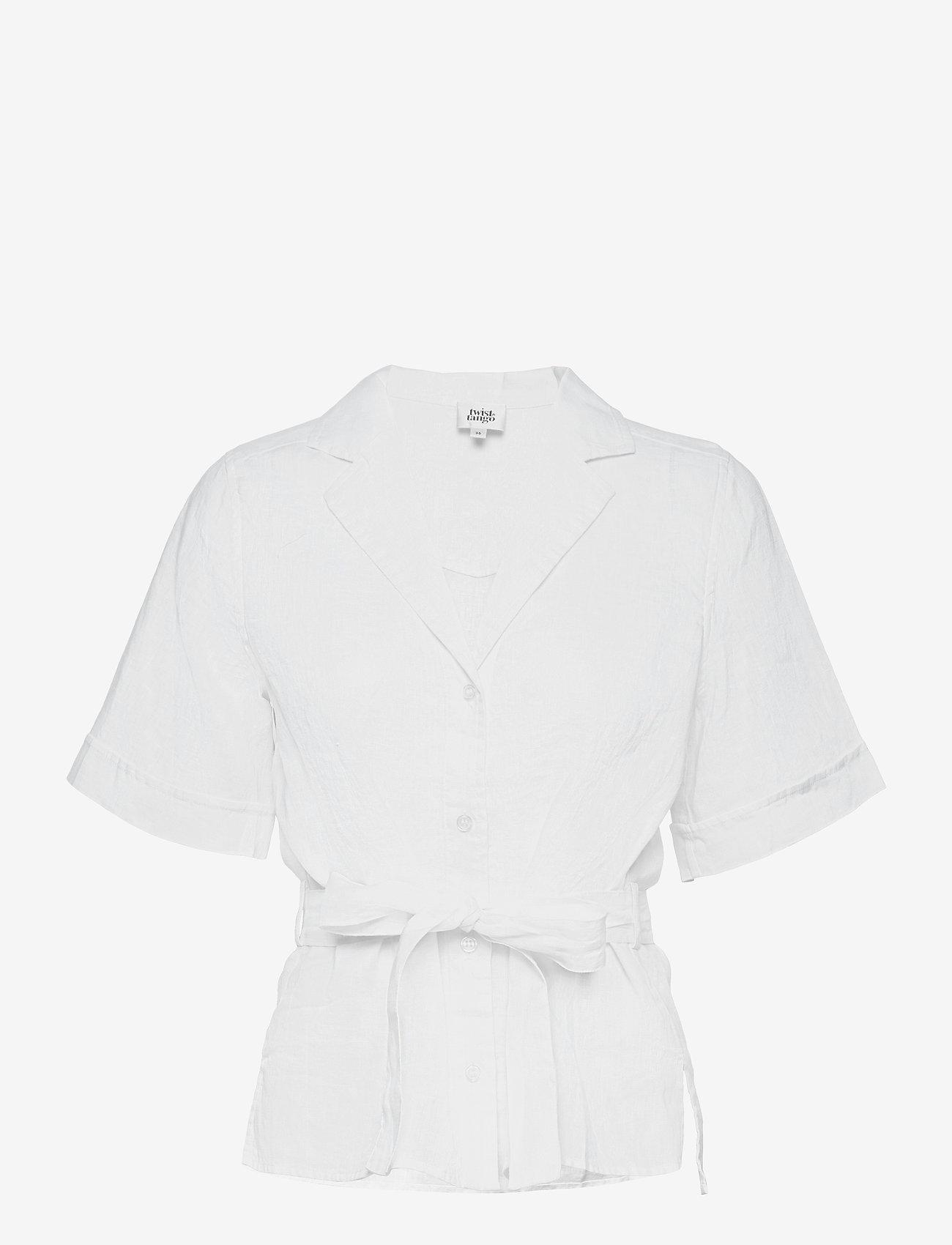 Twist & Tango - Ashley Shirt - kortärmade skjortor - white - 0