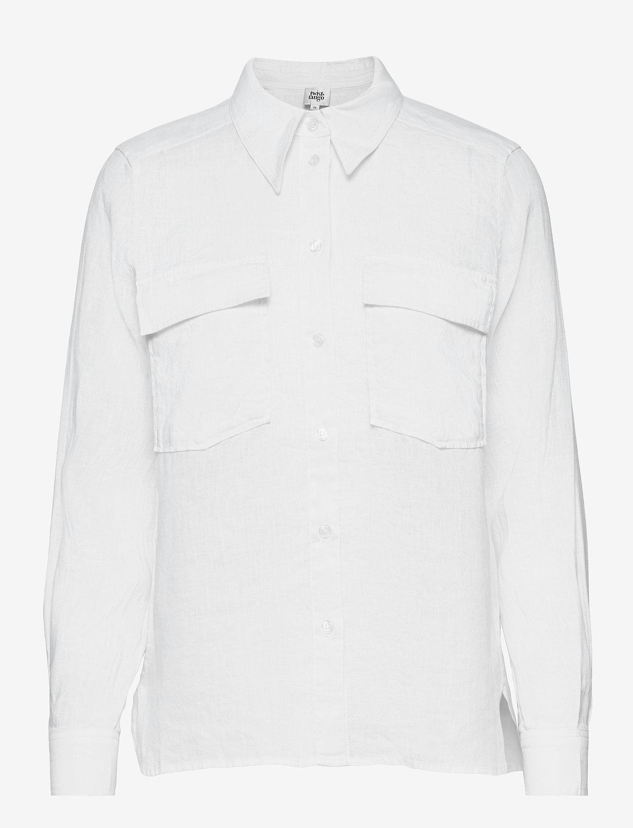 Twist & Tango - Claudia Shirt - långärmade skjortor - white - 0