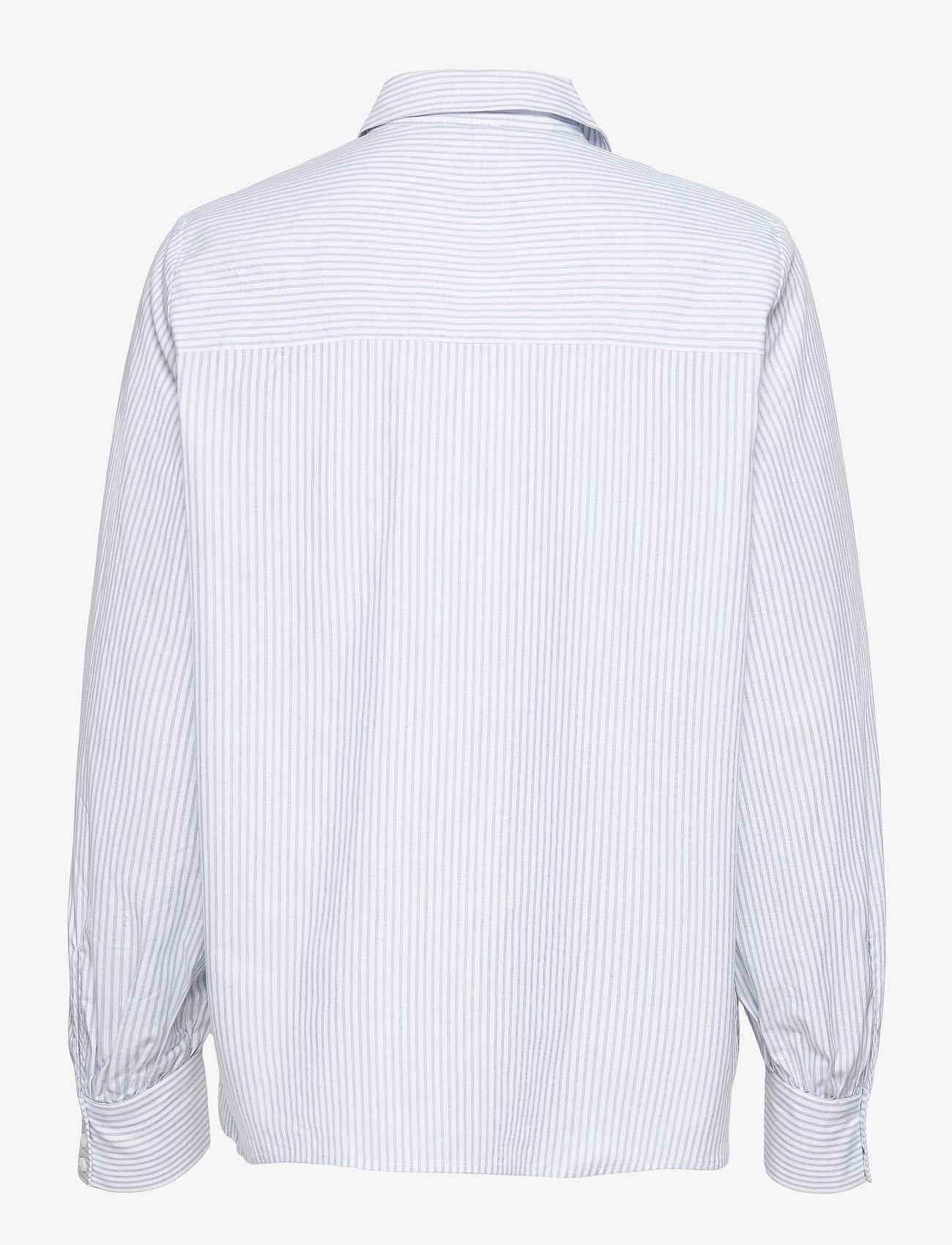 Twist & Tango - Sophie Stripe Shirt - långärmade skjortor - ice blue stripe - 1